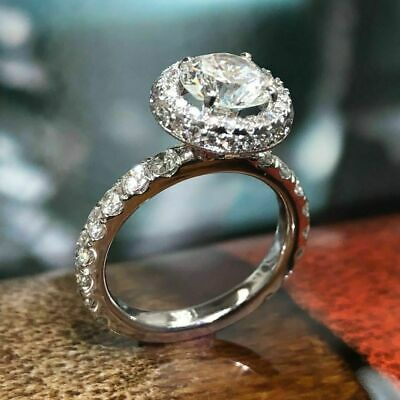 2.00 Ct Round Cut D VVS1 Diamond Solitaire 14K White Gold Over Engagement Ring