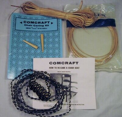 Comcraft & Rockler Chair Caning Supplies Partial Kit w/ Wood & Metal Stripping