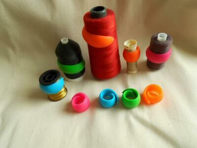 THREAD HUGGERS X10  saver sewing storage FITS ANY BOBBIN cotton holders spools