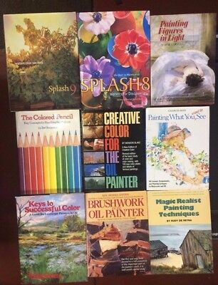 Lot of 16 Painting Art Instruction Books