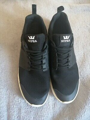 Supra Flow Run Lace Up Mens Casual Running Trainers Black Grey 08021 957 D24