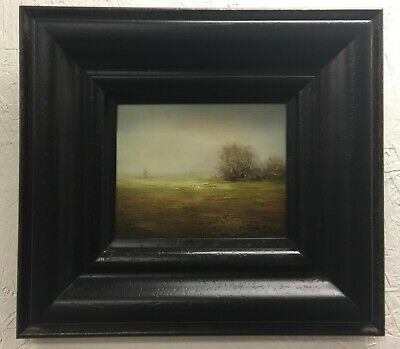 "Landscape Framed Oil Painting Hand Painted on Canvas 20"" Wide x 18"" High"