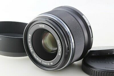 Excellent+++ OLYMPUS M.ZUIKO DIGITAL 25mm F1.8 Black lens