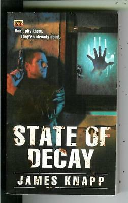 STATE OF DECAY by James Knapp, Roc #46310, horror crime zombie pulp vintage pb