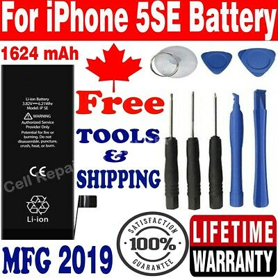 Top Quality iPhone 5SE Li-ion Internal Replacement Battery 1624mAh Free Tools