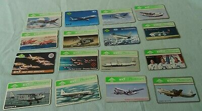 Bt Phonecards - 16 Mixed Plane Phone Cards