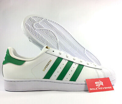half off ebe40 a9607 13 NEW ADIDAS Originals SUPERSTAR Foundation White Green Gold Shoes BY3715  x1