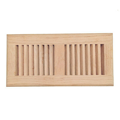 Red Oak Wood Floor Register, Drop In Vent Cover, 4x10 Inch, Unfinished