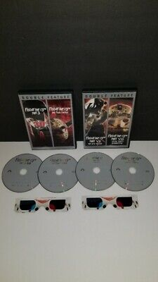 Friday the 13th Part 3 3D w/ glasses The Final Chapter Double Feature DVD Lot