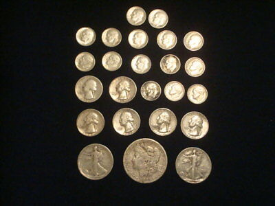 $5 Face Value Lot Of 90% Silver U.s. Coins Mixed Variety L15