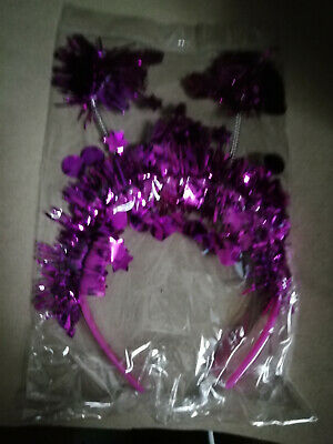 MIXED TINSEL FESTIVAL THEATER HEN-NIGHTS HEAD BOPPERS TINSEL RED //GOLD //PINK