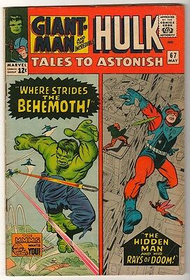 Marvel TALES TO ASTONISH 67  HULK ANT-MAN Pym GIANT MAN AVENGERS FN