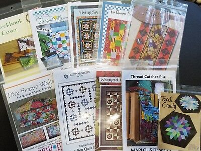 Lot 1 Lot Of 10 Quilting Patterns