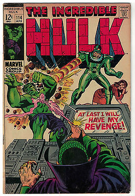 Marvel Comics THE INCREDIBLE HULK Issue 114 At Last I Will Have My Revenge! VG+