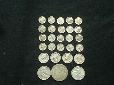 $5 Face Value Lot Of 90% Silver U.s. Coins Mixed Variety L1