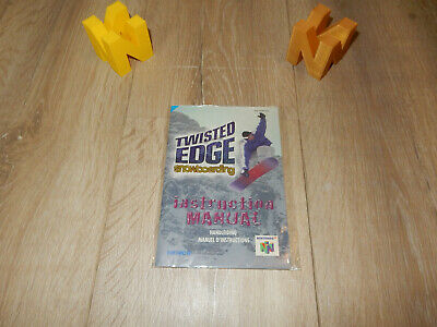 PAL N64: Twisted Edge Snowboarding Manual Only NO GAME Nintendo 64