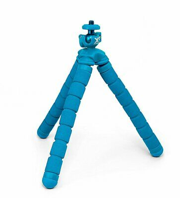 XSORIES Big Bendy Flexible Tripod Mount GoPro Nikon Canon Cameras Blue NEW