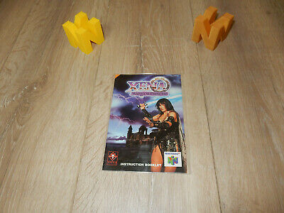 PAL N64: Xena: Warrior Princess Manual Only NO GAME Nintendo 64