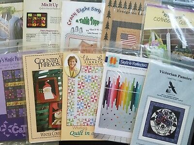 Lot 2 Lot Of 10 Quilting Patterns