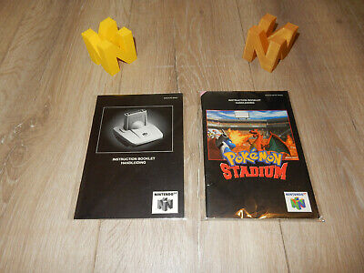 PAL N64: Pokemon Stadium 1 + Transfer Pak Manual Only NO GAME Nintendo 64