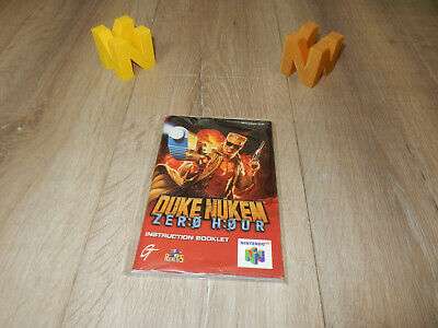 PAL N64: Duke Nukem: Zero Hour Manual Only NO GAME Nintendo 64