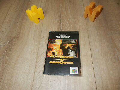 PAL N64: Command and Conquer Manual Only NO GAME Nintendo 64