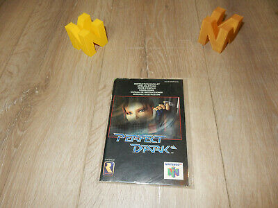 PAL N64: Perfect Dark Manual Only NO GAME Nintendo 64