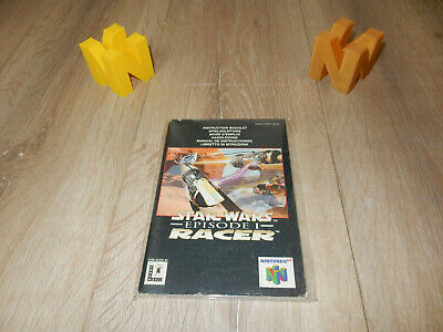 PAL N64: Star Wars Episode 1 Racer Manual Only NO GAME Nintendo 64