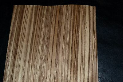 Zebrano Wood Veneer Sheets 6 x 31 inches 1/42nd thick                 MAR8636-25