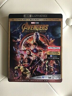 Avengers Infinity War (4K Ultra HD+Blu-ray/Digital HD)Slipcover-NEW-