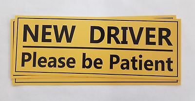 3 Pack NEW DRIVER Please Be Patient Bumper Sticker - Student drive