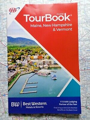 AAA MAINE NEW HAMPSHIRE VERMONT TourBook Travel Guide Book 2019 FREE SHIPPING!