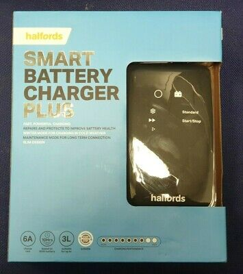 Smart Charger Plus Halfords - 12V 6A Vehicles Up to 3L