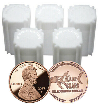 Lot of 100 - 1 oz Copper Rounds 2017 P Lincoln Penny