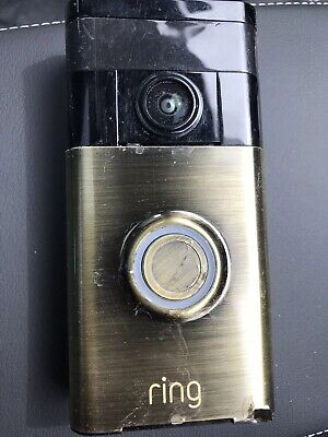 Ring Wi-fi Enabled Video Doorbell in Antique Brass
