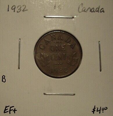 B Canada George V 1932 Small Cent - EF+