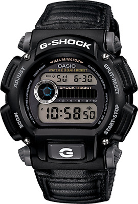 Casio Men's G-Shock Quartz Chronograph Black Resin Band 48.5mm Watch DW9052-1V