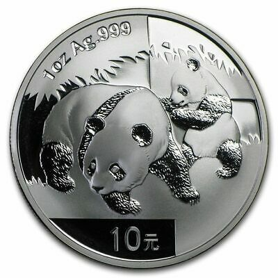China 10 Yuan - Panda 2008 - 1 Oz 999 Silber