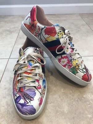 ed77c8c28 Gucci New Ace Floral Dino Sneaker, Size 15 G 16 US, Mystic White Retail