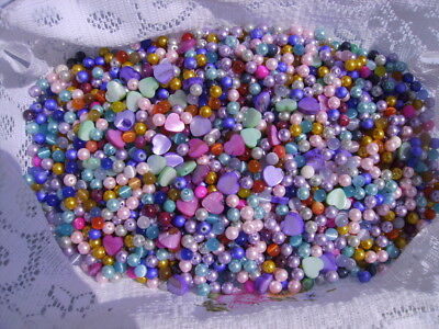 Lot de 600 perles fantaisies en mélanges