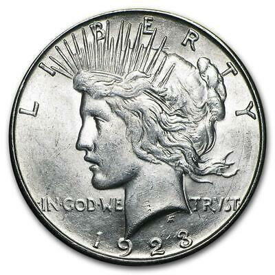 1923 Peace Silver Dollar Almost Uncirculated - AU