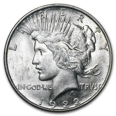 1922 Peace Silver Dollar Almost Uncirculated - AU