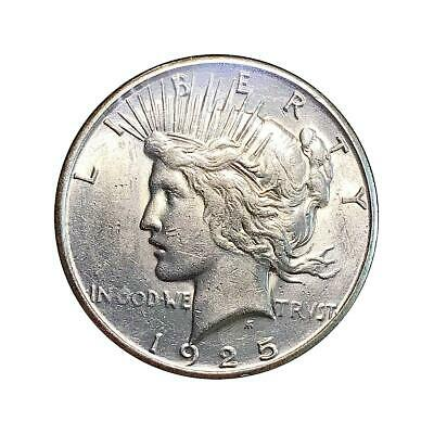 1925 Peace Silver Dollar Almost Uncirculated - AU