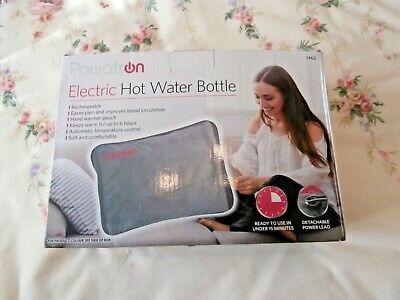 Powerten Rechargeable electric hot water bottle heat pad, grey