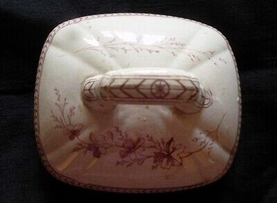 Decorative Authentic 1870s Ceramic Ironstone Lid for a Sugar Bowl