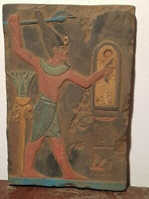 URare Antique Ancient Egyptian Stela Pharaoh Mina 1st king History unify 3100BC