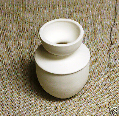Ceramic Bisque Hyacinth Vase Small Duncan Mold 114 U-Paint Ready To Paint