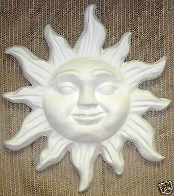 Ceramic Bisque Wall Mount Sun Tri Star Mold 650 U-Paint Ready To Paint