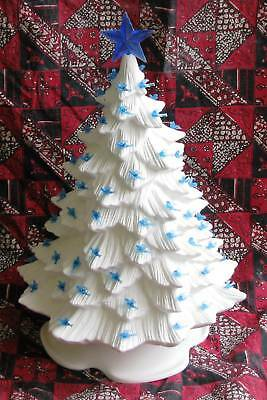 Ceramic Bisque 16 Inch Christmas Tree Doc Holliday 725 Light Kit U-Paint