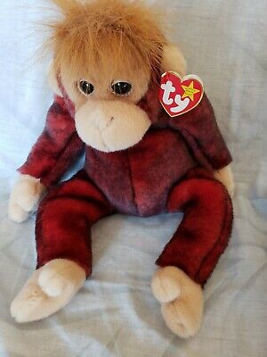 fad99ee22d4 TY BEANIE BUDDY SCHWEETHEART Orangutan Red Monkey Plush with Tag ...